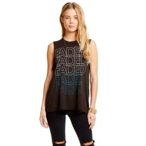 Chaser FADED Tank Top T-shirt Small Graphic Tee